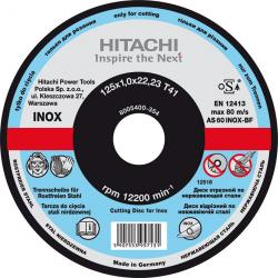 Tarcza do metalu 125x22.2 mm grubość 1 mm Hitachi