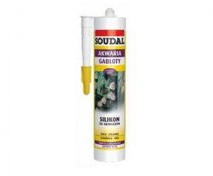 Silikon do akwarium bezbarwny 300 ml Soudal